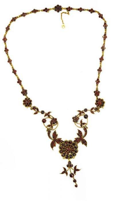 Victorian Vermeil and Garnet Necklace