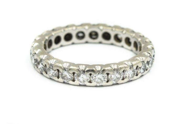 Contemporary Platinum and Diamond Eternity Ring
