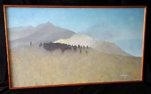 Hawaii Oil Painting Tribal Gathering BC Kieling