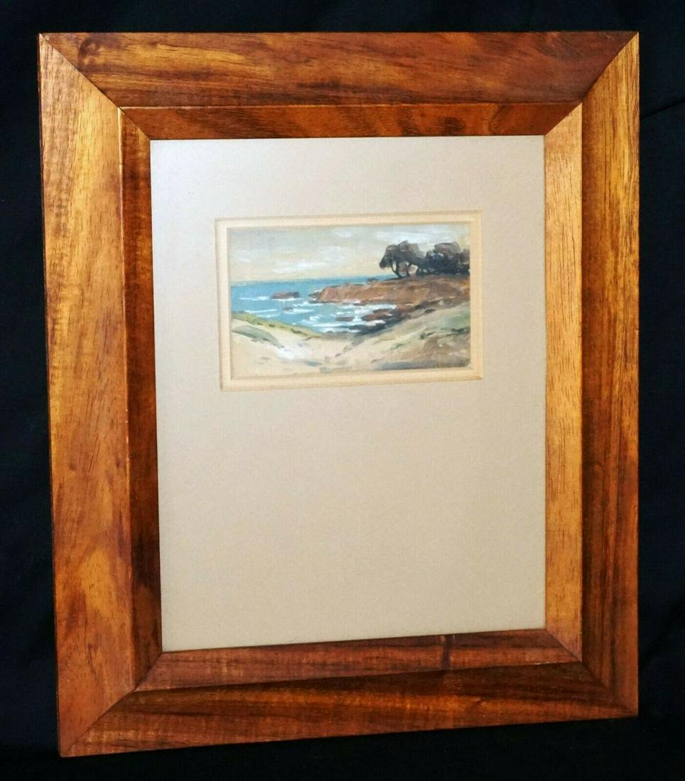 Hawaii/CA Koa Frame WC Coastal Landscape