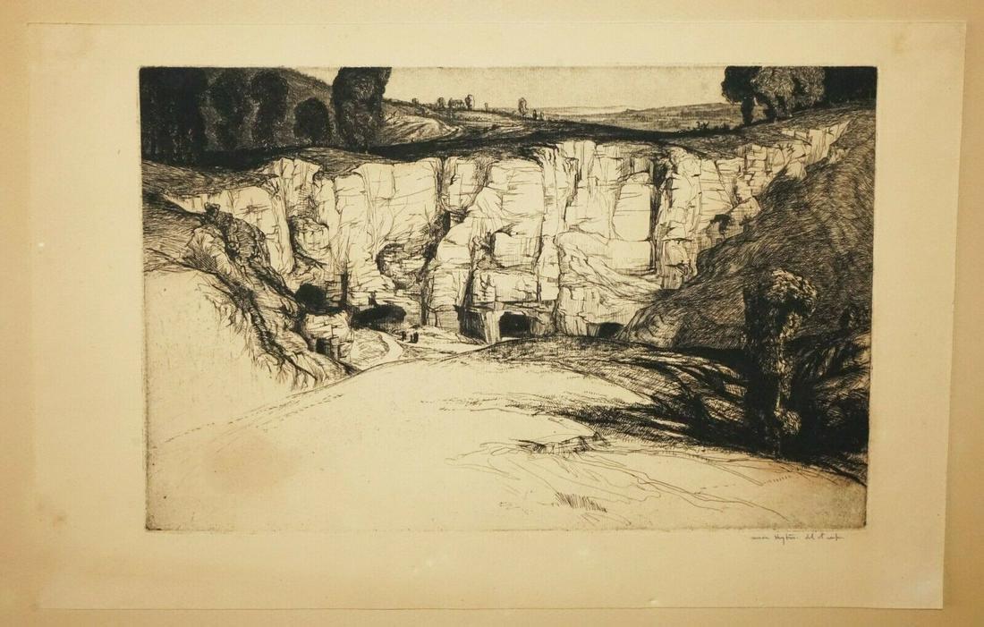 UK Print Roman Quarry Edward Bouverie Hoyton