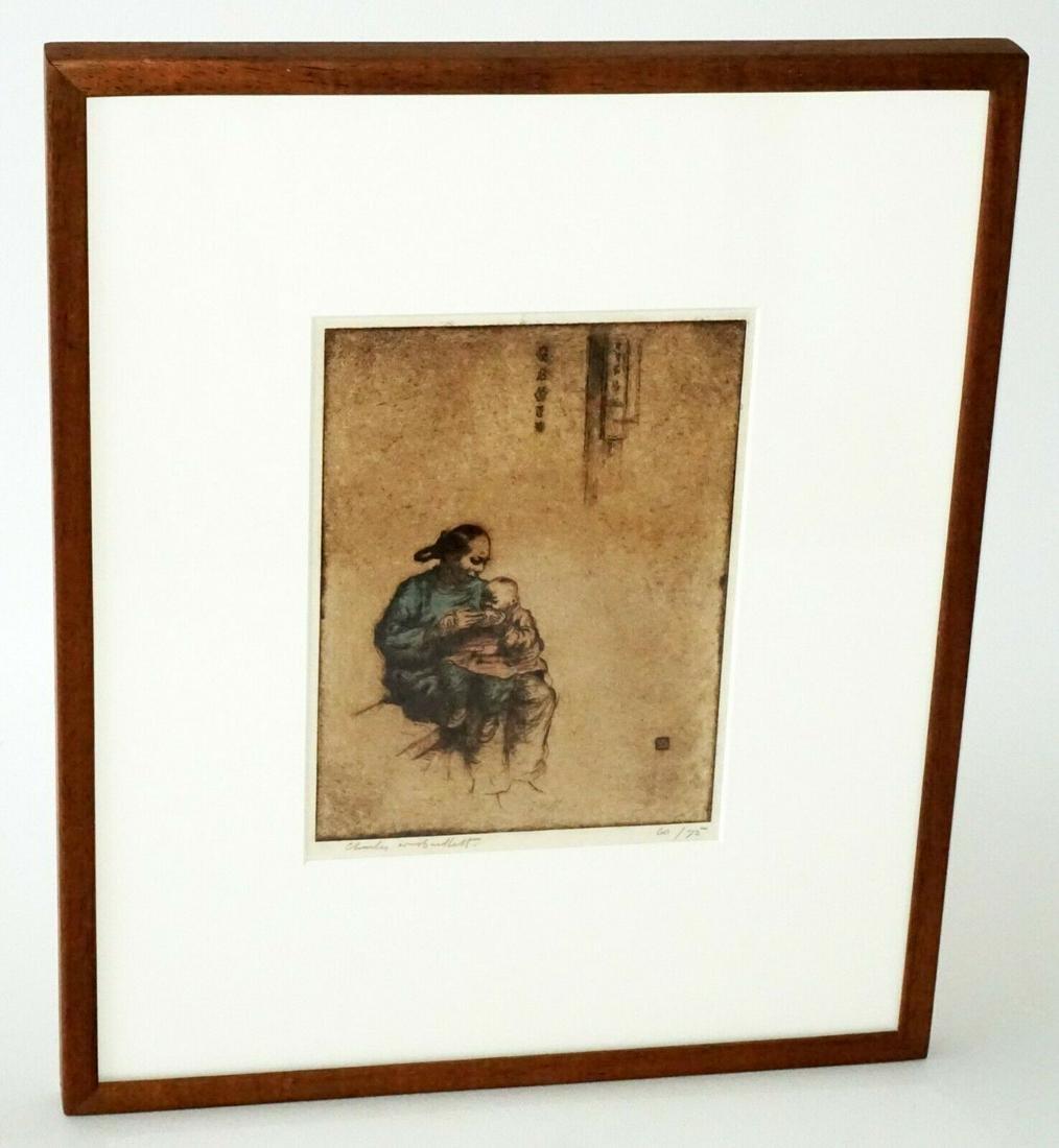 Hawaii Print Chinese Family Charles W Bartlett