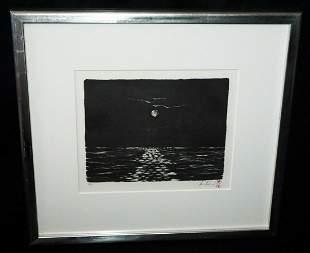 Hawaii Japan WB Print Moon Water Sean Kimizuka