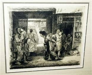 Hawaii Print Chinatown Horatio Nelson Poole