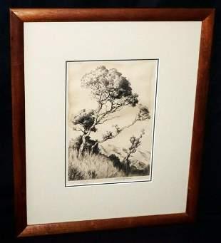 Hawaii Koa Frame Print Lehua Huc M Luquiens
