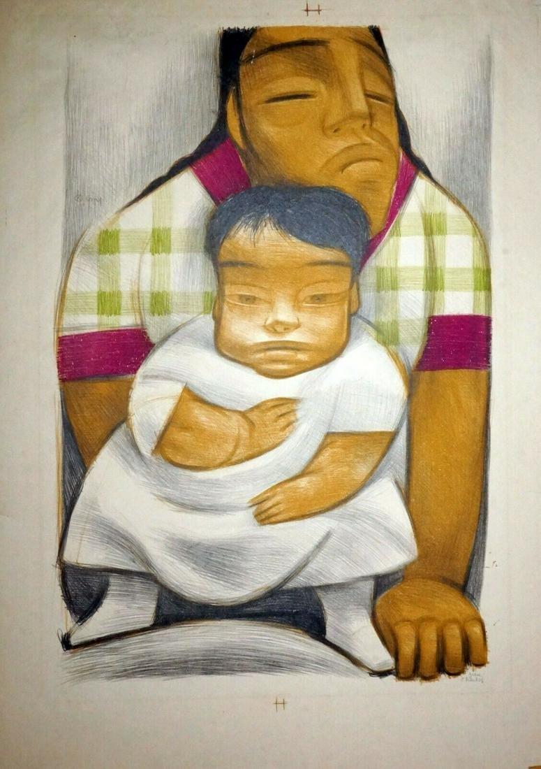 Mexican Modern Print Family Jean Charlot