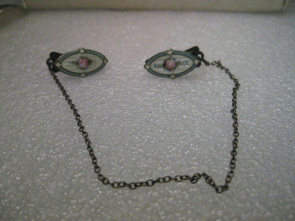 Vintage Sterling Silver Art Deco Guilloche Rose Sweater