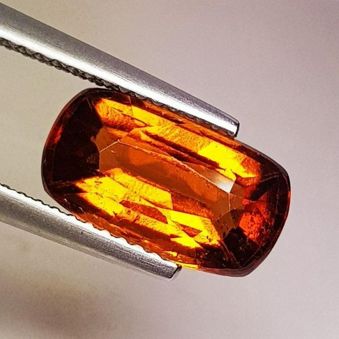 Natural Hessonite Garnet Cushion Cut 3.70 ct
