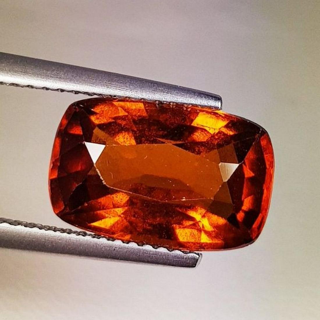 Natural Hessonite Garnet Cushion Cut 5.44 ct