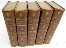 5 volumes ANTIQUE WASHINGTON IRVING'S WORKS DECORATIVE