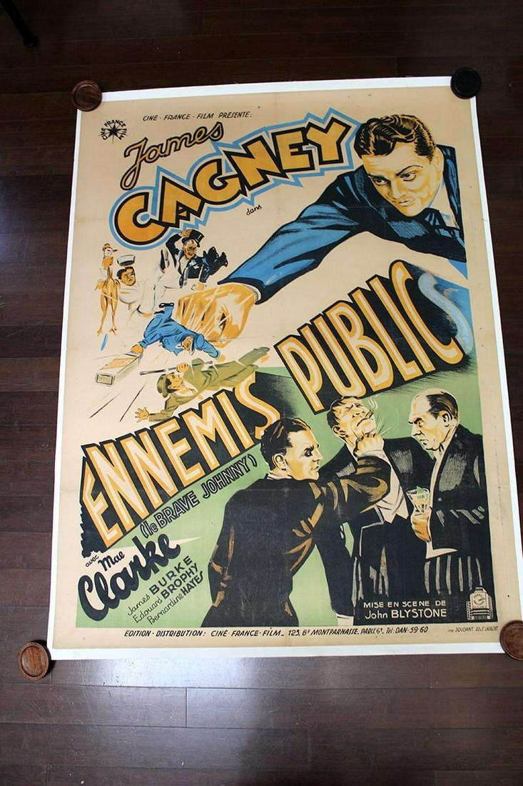 """Great Guy - James Cagney (1931) 46.75"""" X 62.5"""" French"""