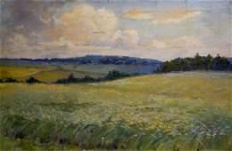 Oil painting Landscape field Gerus Boris Stepanovich