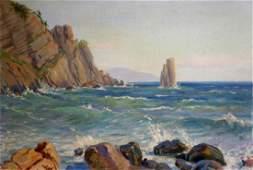 Oil painting Sea shore