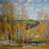 Oil painting After winter Mynka Alexander Fedorovich