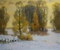 Oil painting Winter came Mynka Alexander Fedorovich