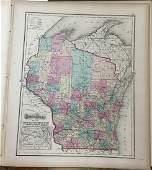 Gray's Atlas Map of Wisconsin