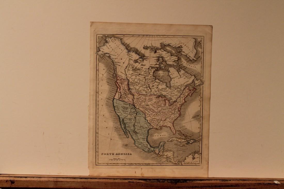 1842 Map of North America