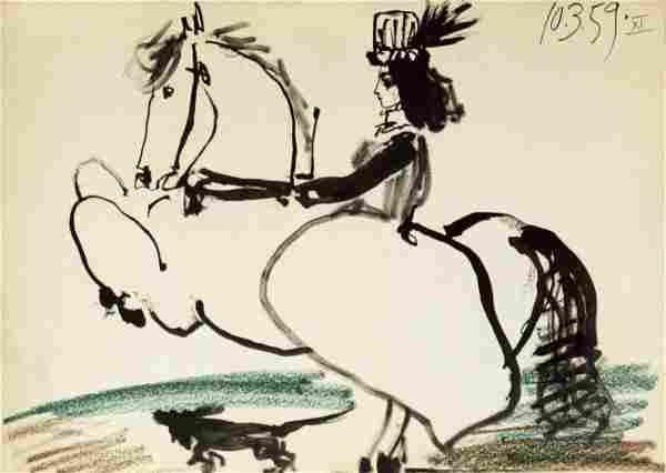 Pablo Picasso: Equestrian, 1959
