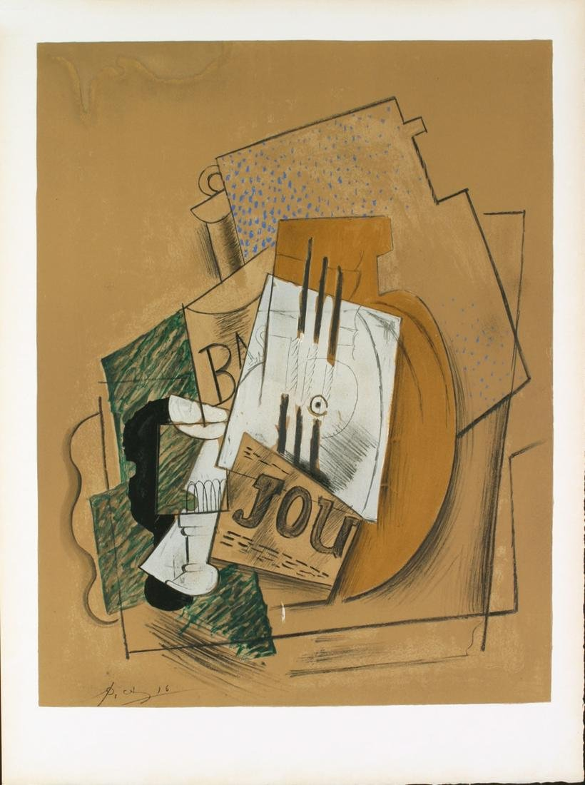 Pablo Picasso: Still Life with Bottle of Bass