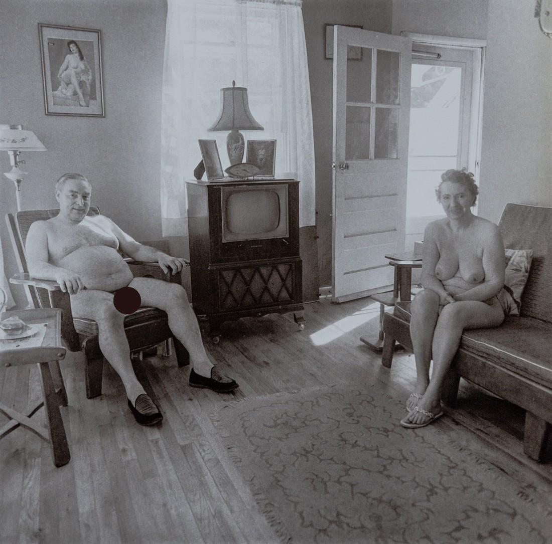 Diane Arbus, Retired Man, Wife At Home, Nudist Camp