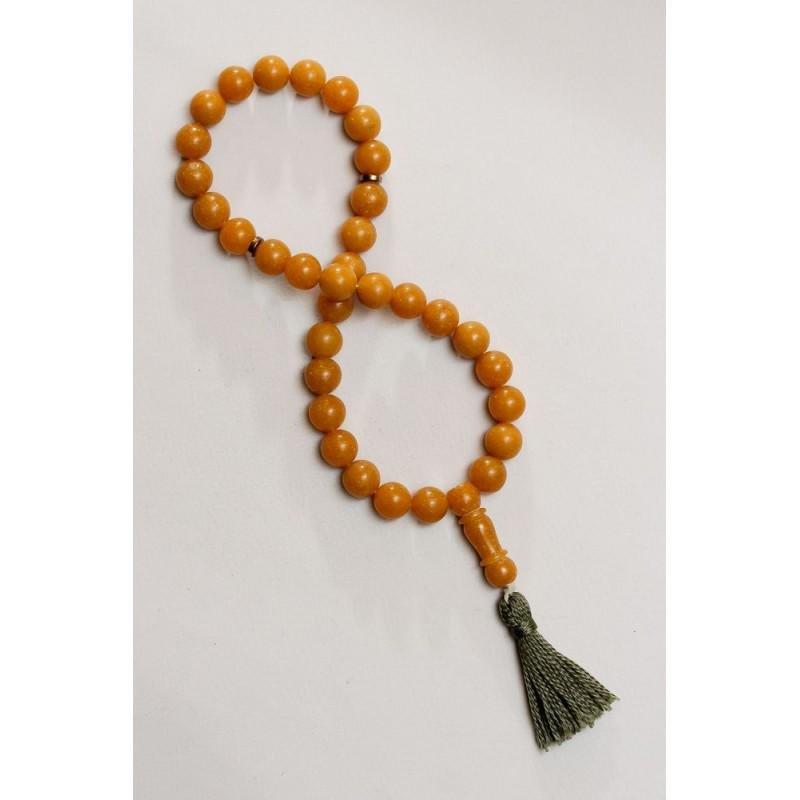 49 g. Natural Baltic amber rosary imam amber yellow