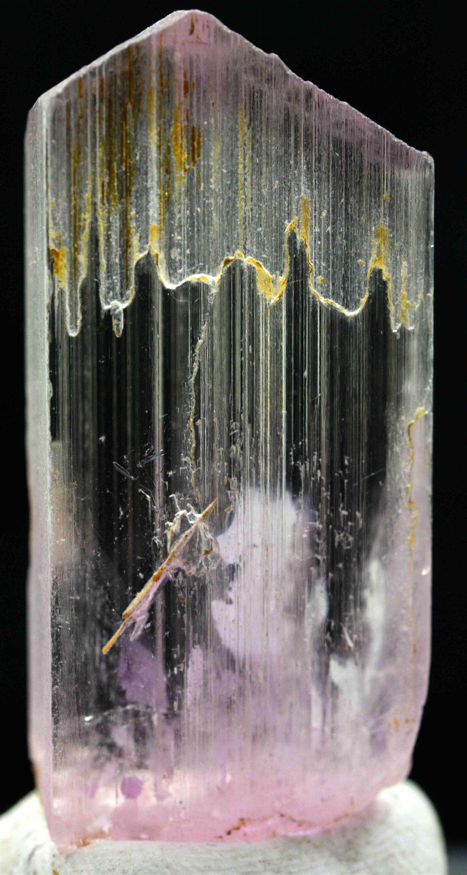 15 Grams VShape Terminated Beautiful Kunzite Crystal