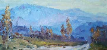 Oil painting Mountain landscape Kovalenko Ivan