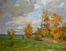 Oil painting Landscape Mynka Alexander Fedorovich
