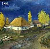 Old house oil painting Tsyupka Ivan Kirillovich