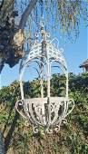 Beautiful wrought iron flower basket - Hanging flower