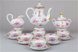 Antique Herend Waldstein Raspberry Tea Set for Six