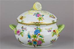 Herend Queen Victoria Large Soup Tureen with Lemon Knob