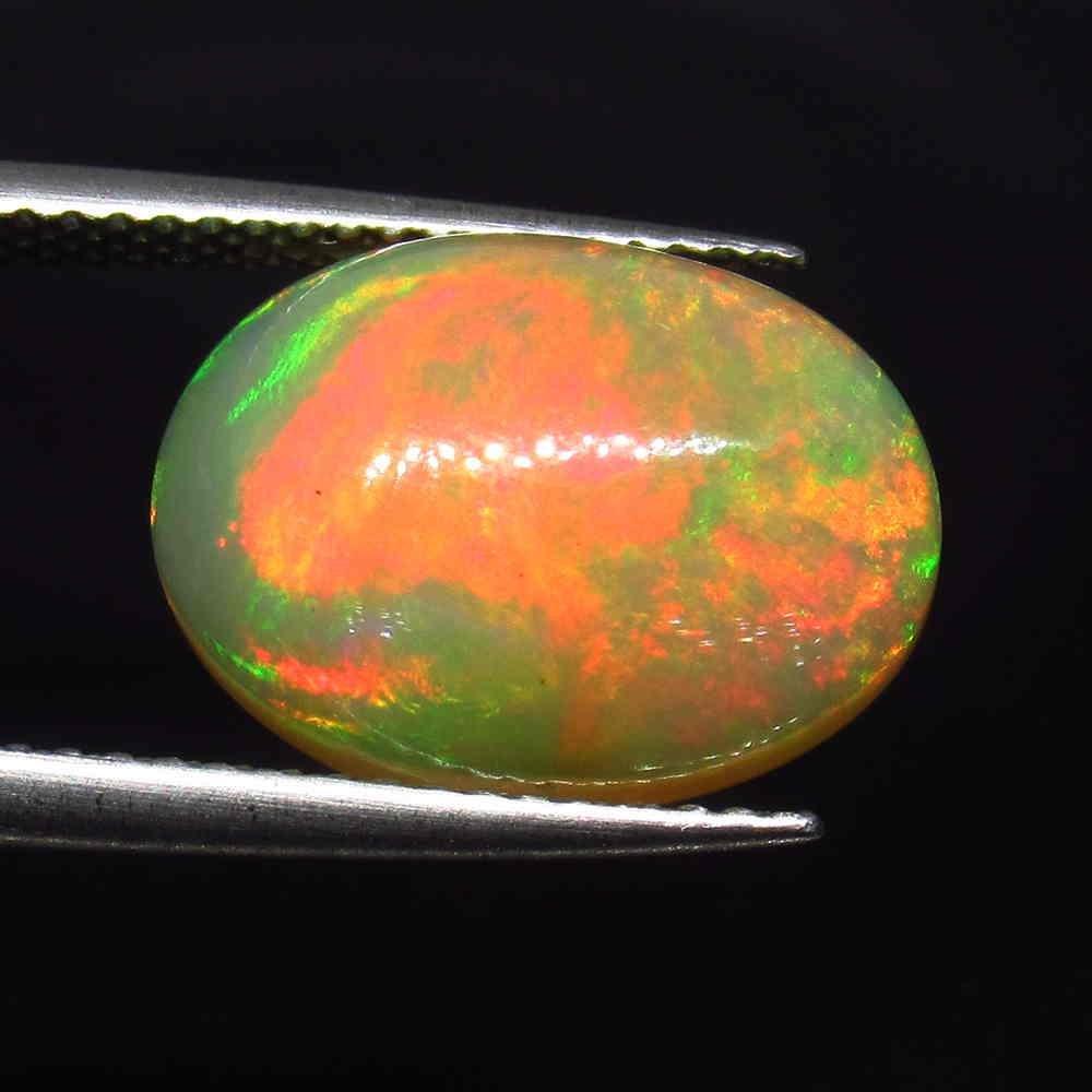 IGI Certified 5.08 Ct Natural Multi-Color Fire Opal