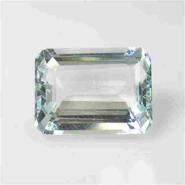 IGI Certified 8.47 Ct Natural Aquamarine Emerald Cut
