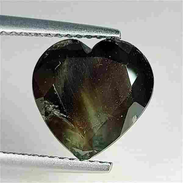 Natural Green Sapphire Heart Cut 4.68 ct