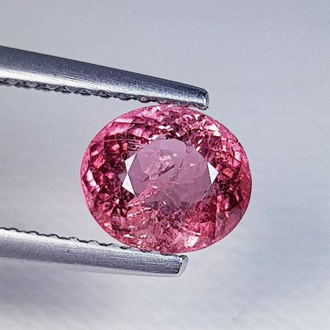 1.44 ct Natural Rubelite Tourmaline Oval Cut