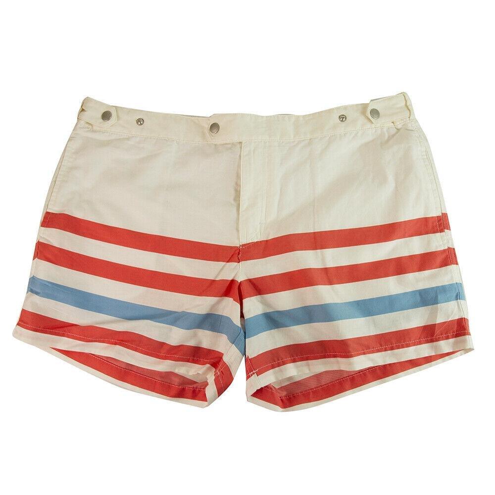 SOLID & STRIPED Men's Beach Shorts Swim Trunks -