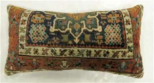Large Antique Persian Heriz Rug Pillow