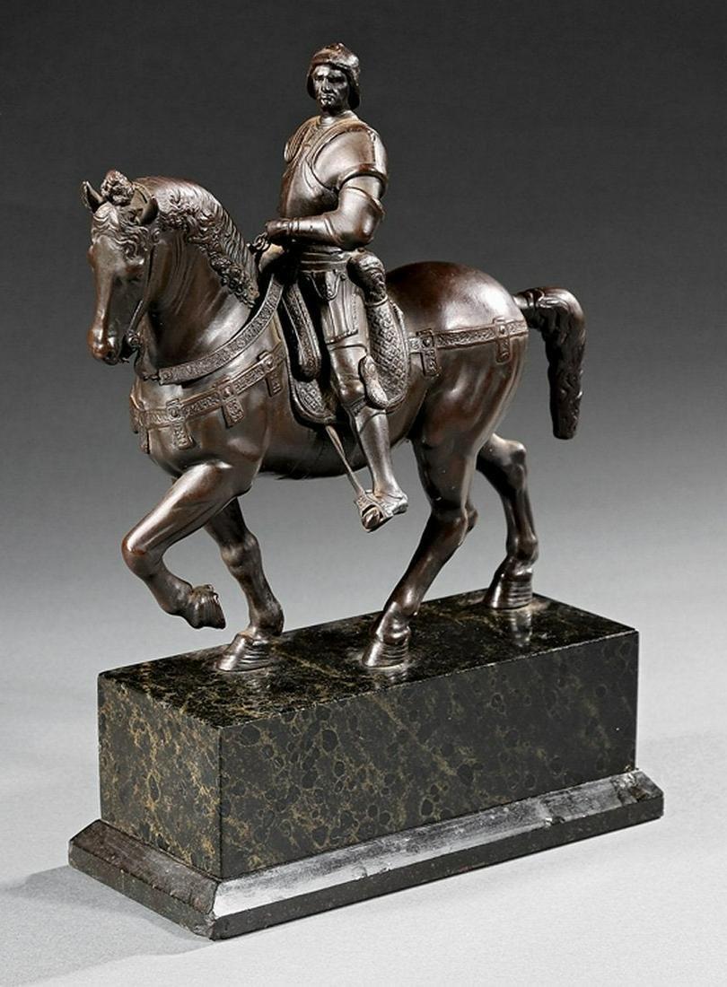 Italian Bronze Equestrian Figural Group