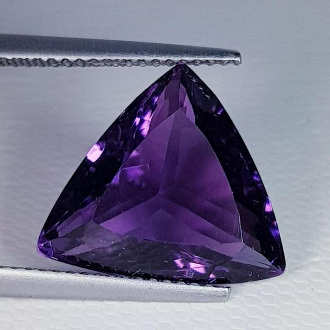 Natural Amethyst Triangle Cut 8.62 ct