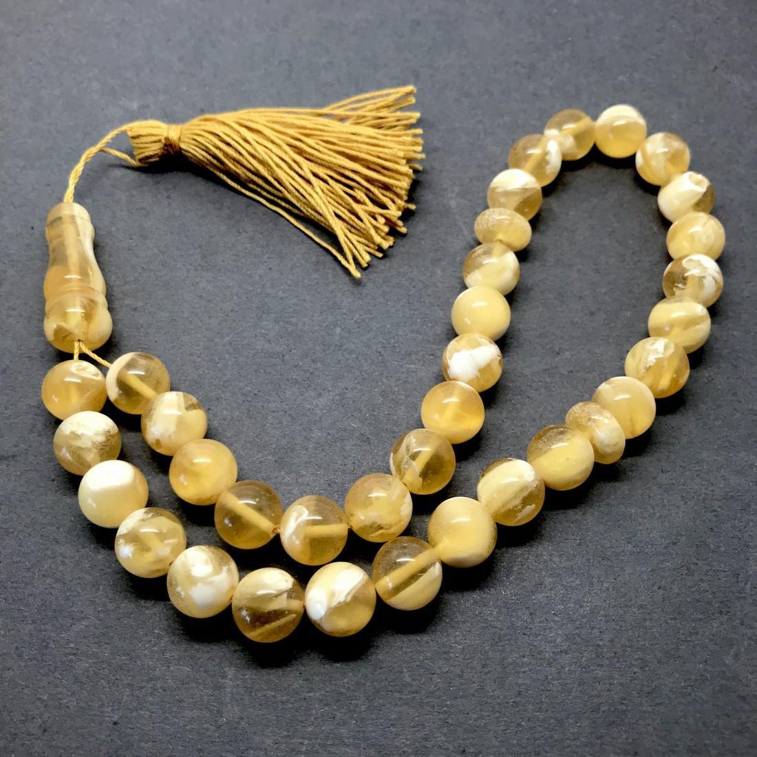 Phenomenal Amber Tesbih made from Round Amber beads