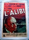 L'alibi '37 LB French Super Rare C.o.o. Von Stroheim!