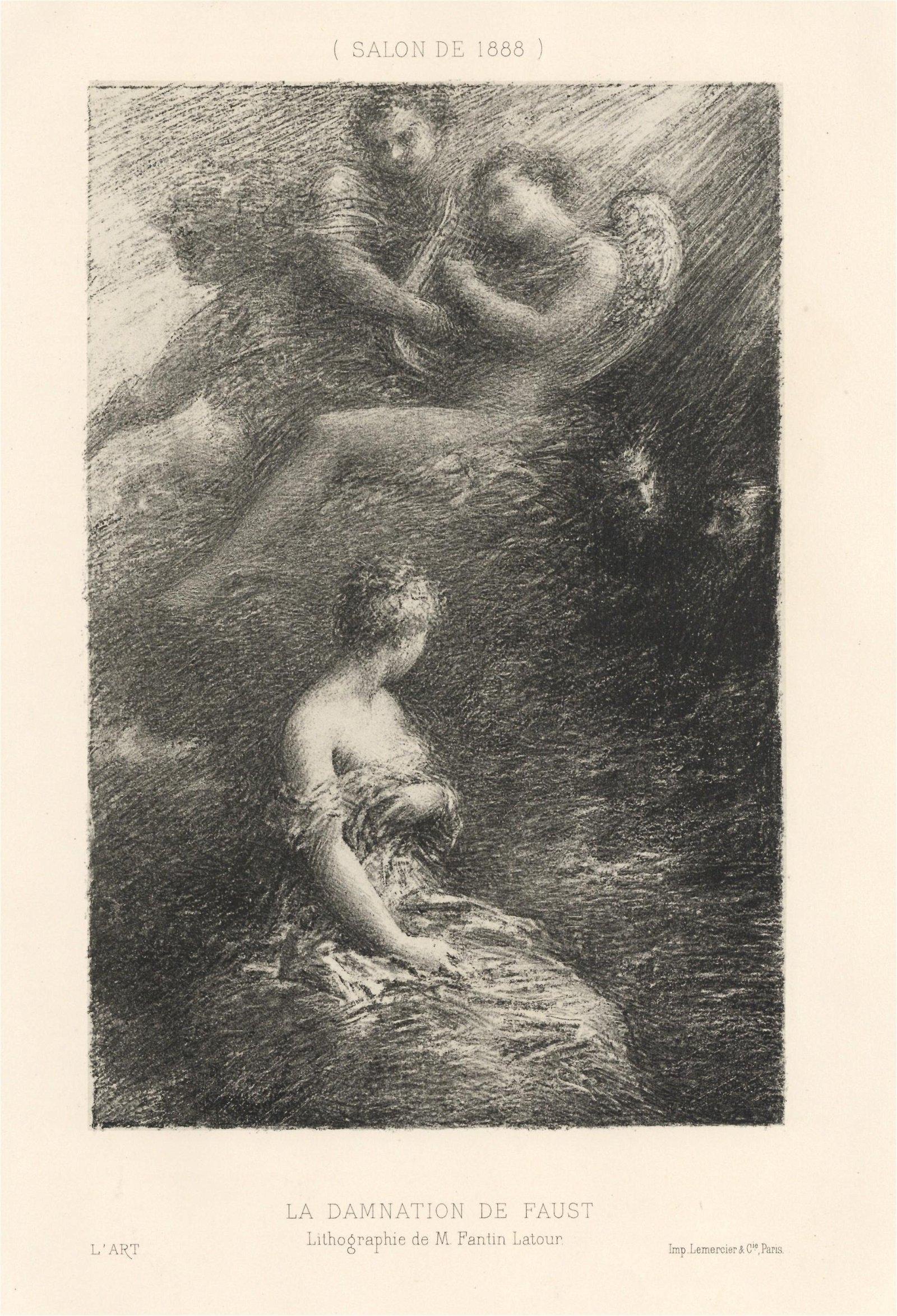 """Henri Fantin-Latour """"La Damnation de Faust"""" original"""