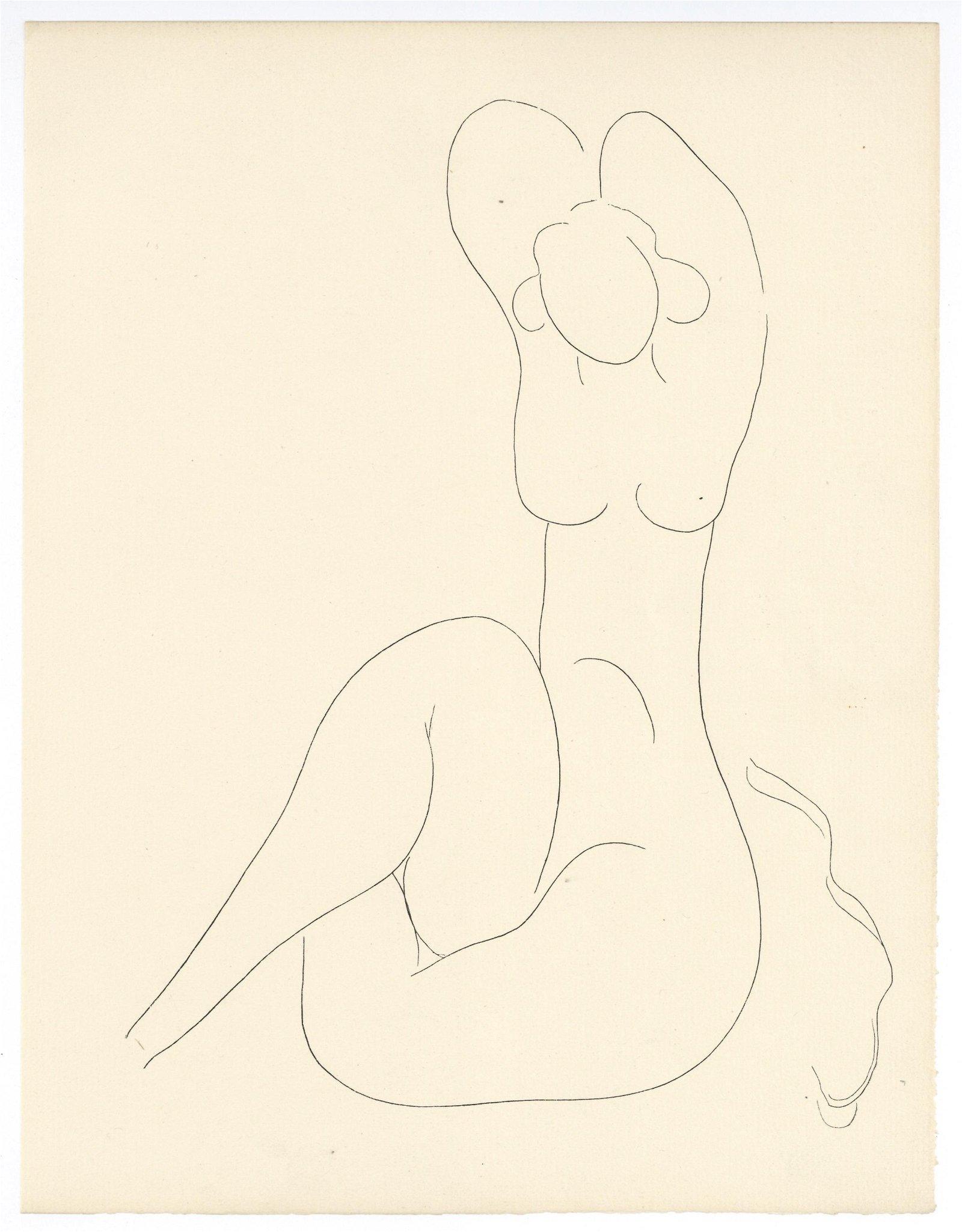 Henri Matisse engraving, 1933 | Poesies de Mallarme