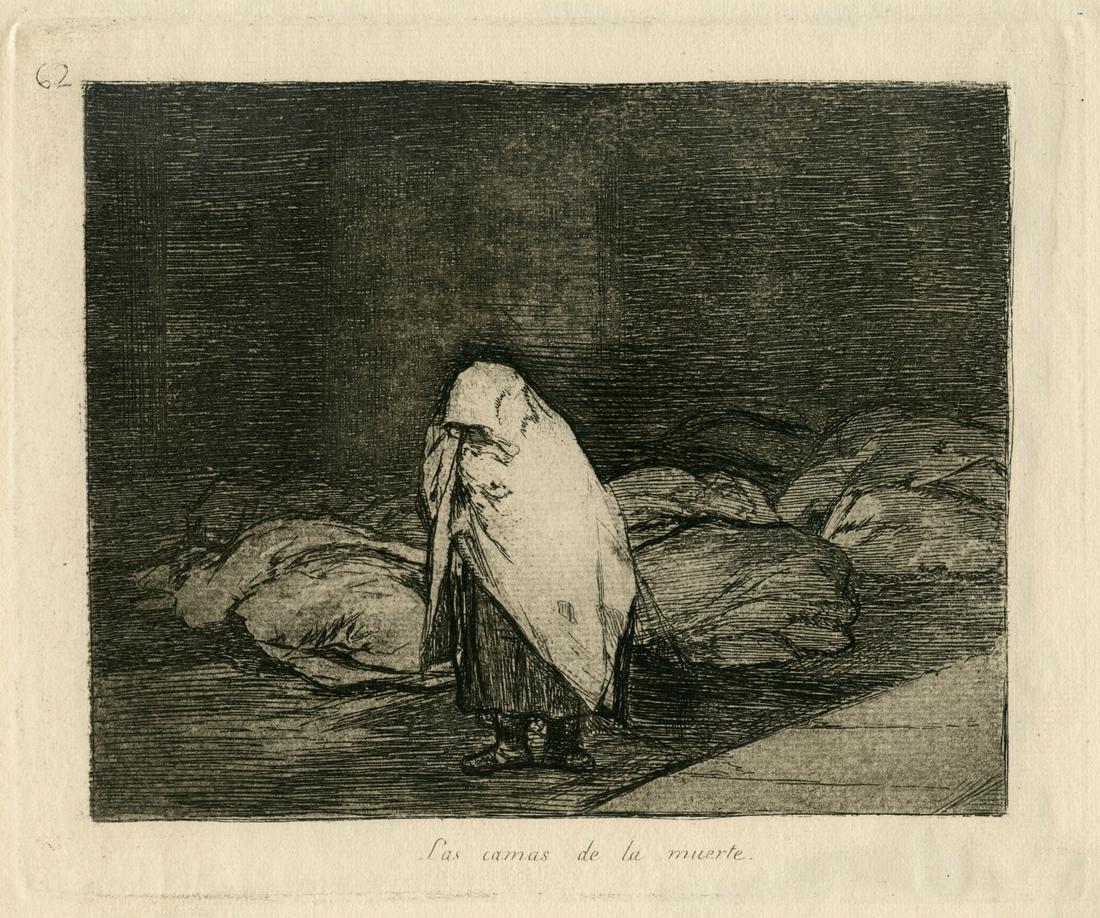 """Francisco Goya original etching """"Las camas de la"""