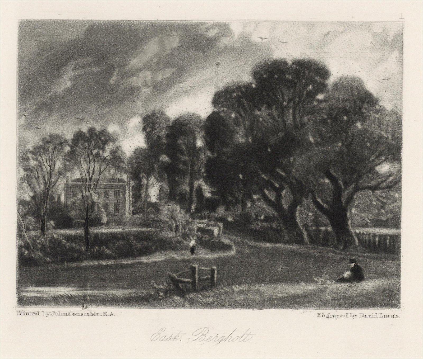 "Sir John Constable / David Lucas mezzotint ""East"
