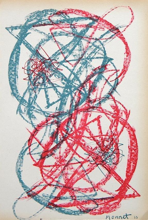 Gianni Monnet original lithograph | Arte Concreta