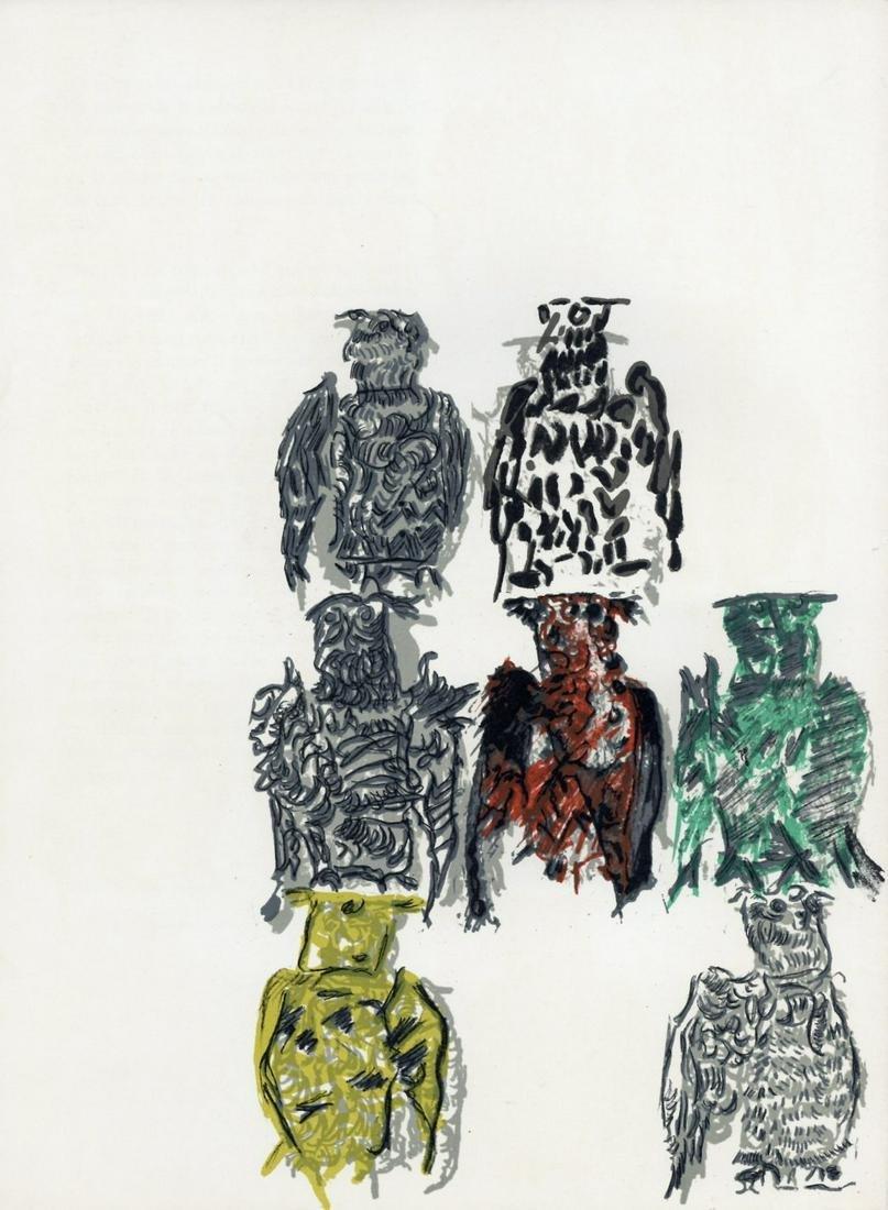 Jean-Paul Riopelle original lithograph, 1970