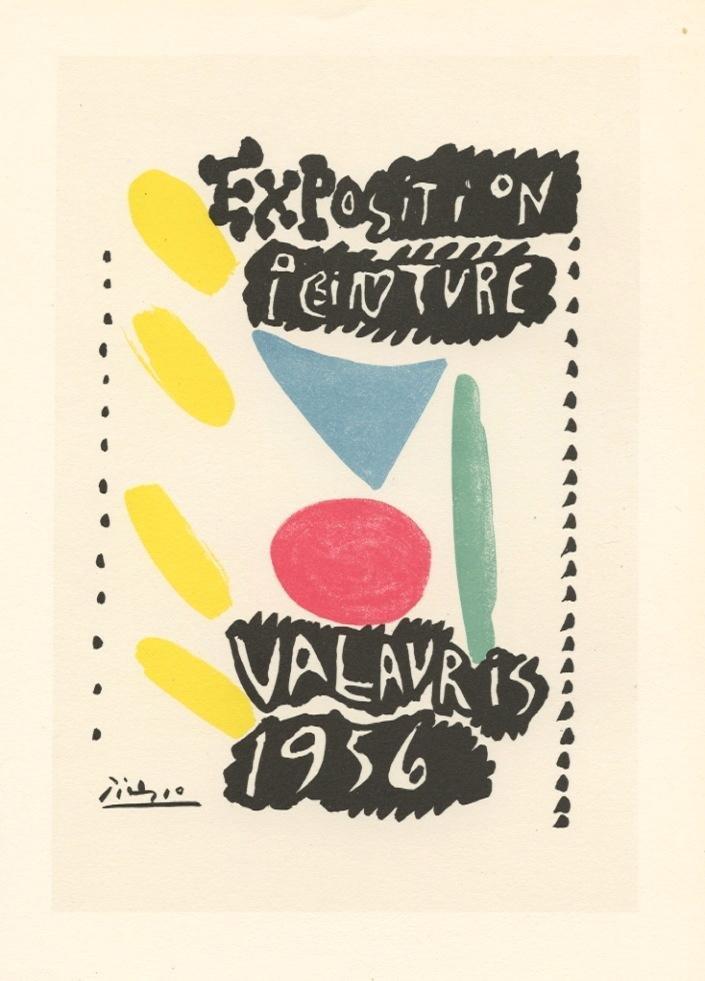 "Pablo Picasso lithograph poster ""Exposition Peinture"