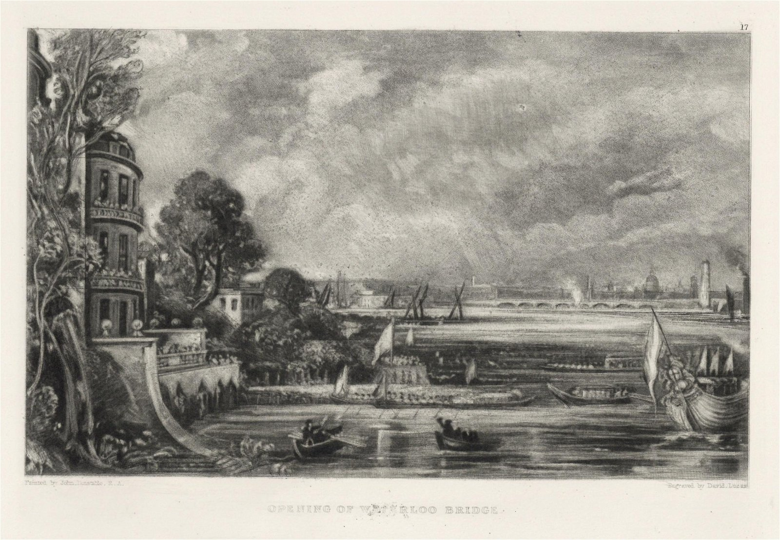 "Sir John Constable / David Lucas mezzotint ""Opening of"